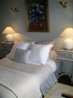 la chambre bleue pour les enfants ou les  amis