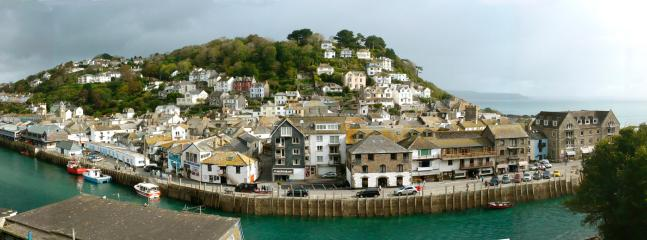 View from the wrap-around terrace over to East Looe
