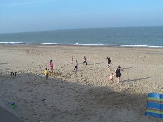 The beach next to our holiday caravan park.