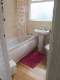 Bathroom fitted with Electic shower for those who don't wish to bath