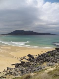 Explore the beautiful beaches of Harris only a 16 mile drive from Bannatyne House