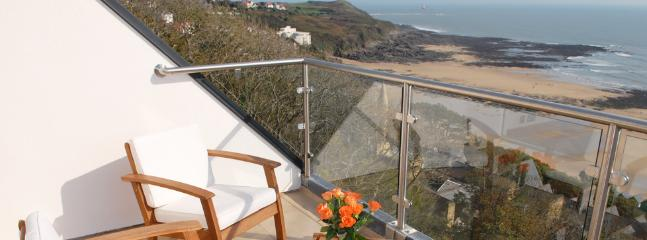 Three balconies with panoramic views over Langland Bay