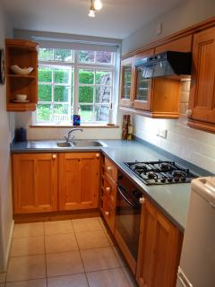 Seperate well equiped kitchen, with views over the private rear courtyard