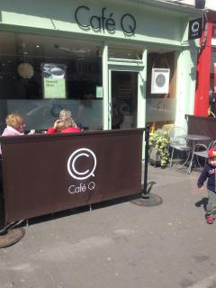 Stopping for a coffee at one of several cafes in Nenagh
