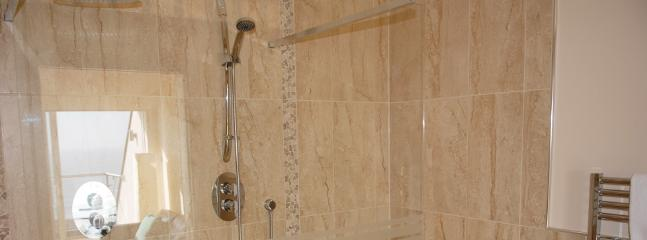 Master bedroom en-suite with twin basins and double shower