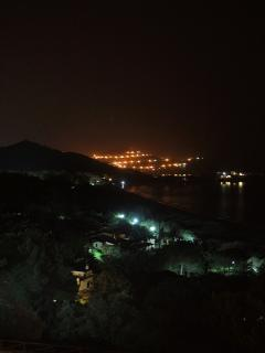 Nocturnal View of the coast and sea from the patio