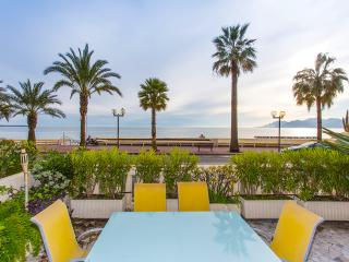 Palais de la Plage, Cannes: Sea Front Apart, 2 bed/2 bath, Parking; Wifi, A/C