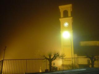 Winter night towerbell