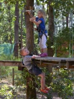 Climbing in the trees at St George (min height limit) or Royan for all ages 4 upwards
