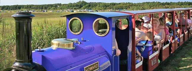 Take the tourist train into Wells from the holiday park