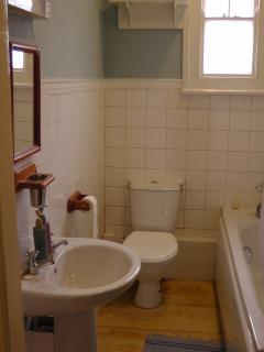family bathroom  with electric shower. Trip advisor may tell you where the  lower half is!