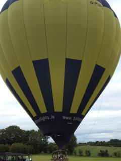 Hot air balloon takes off from Clintagh Cottages in September 2013