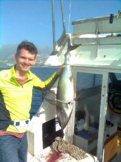 Catch a nice Tuna on Graham's boat