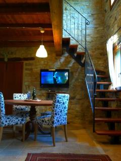 The dining area and staircase