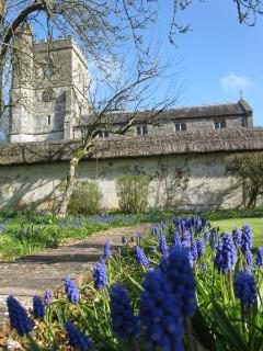 Picture of church from the walled garden