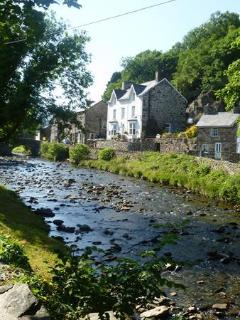 Beddgelert Village with river