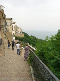 Panoramic walkway in the Historical Center of Vasto (7 mins walk)