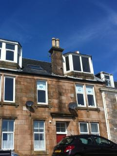 Exterior of Millport Beach apartment