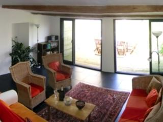 The sitting room opens onto the terrace