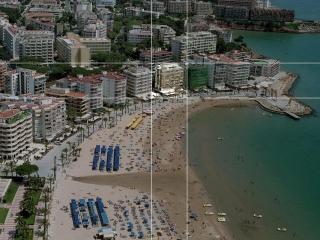 Vista aérea de la situación del edificio .