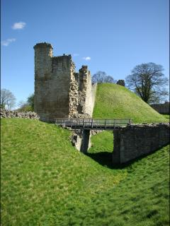 Pickering Castle only 15 mins walk from Cottages