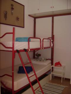 The bunk bedroom