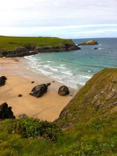 Polly Joke Beach, !5 minutes walk