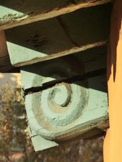 Détail du toit de l'iimeuble (période Renaissance)