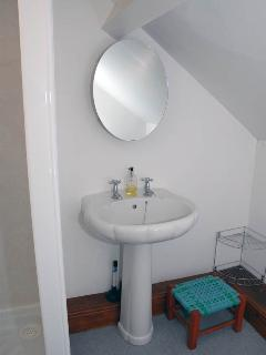 Shower room with wash basin