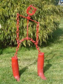 Sculpture 'Cavalier' réalisée par la propriétaire artiste