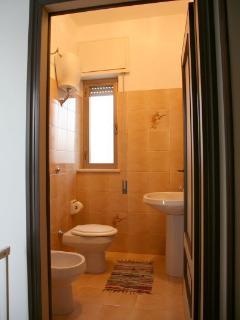 the bathroom on the fist floor
