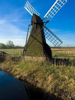 Wind powered water mill at Wicken Fen (National Trust)