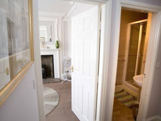 Hallway between bedroom and living room