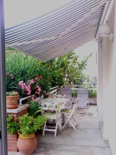terrasse individuelle - chambre cigales