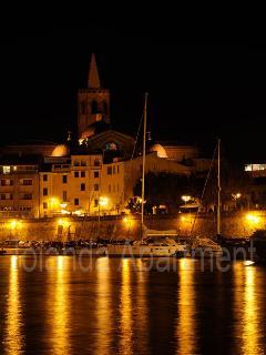 Port of Alghero at night - 400 mt from Iolanda Apartment