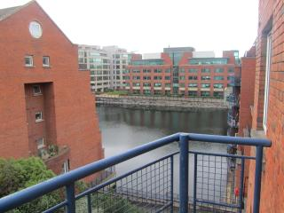 View from balcony over George's Dock Canal