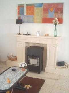 the cozy livingroom