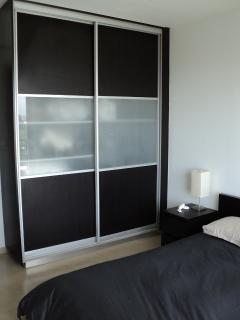 Sliding wardrobes in both bedrooms