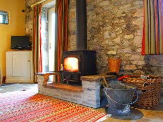 Wood-burning stove to make the cottage really cosy.