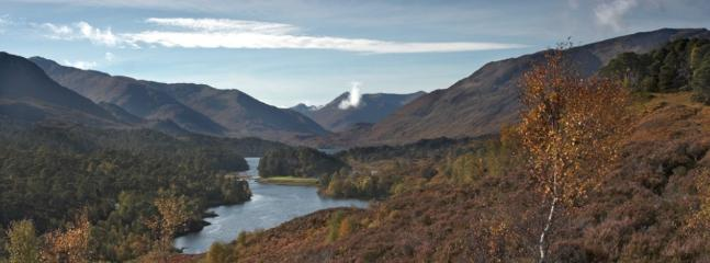 Glen Affric, with its majestic munros and ancient pine forests just a 5 minute drive from Tomich