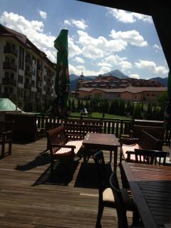 Outside bar terrace area