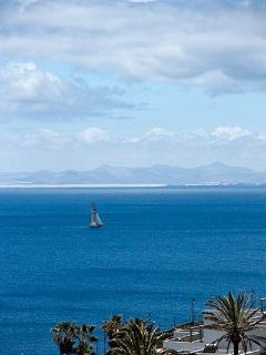 view of Fuerteventura on a clear day from the terrace