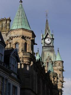 Historic Dunfermline - the City Chambers and clock tower