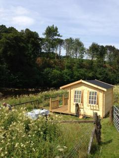 The fishing hut on the lower beat which is perfect for lunches