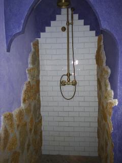 Ducha de uno de los baños