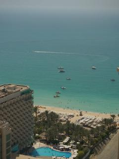 Aparrtment View (Hilton Hotel and public beach)