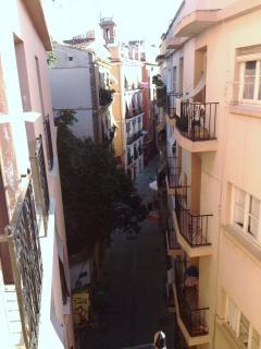 View from the balconies; the charming streets of 'el Barrio del Carmen'!