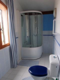 The Blue and Yellow room Jack and Jill shower room
