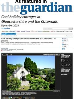 As featured in the Guardian, Cool holiday cottages in Gloucestershire and in the Cotswolds