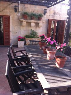 The BBQ terrace with Kitchenette
